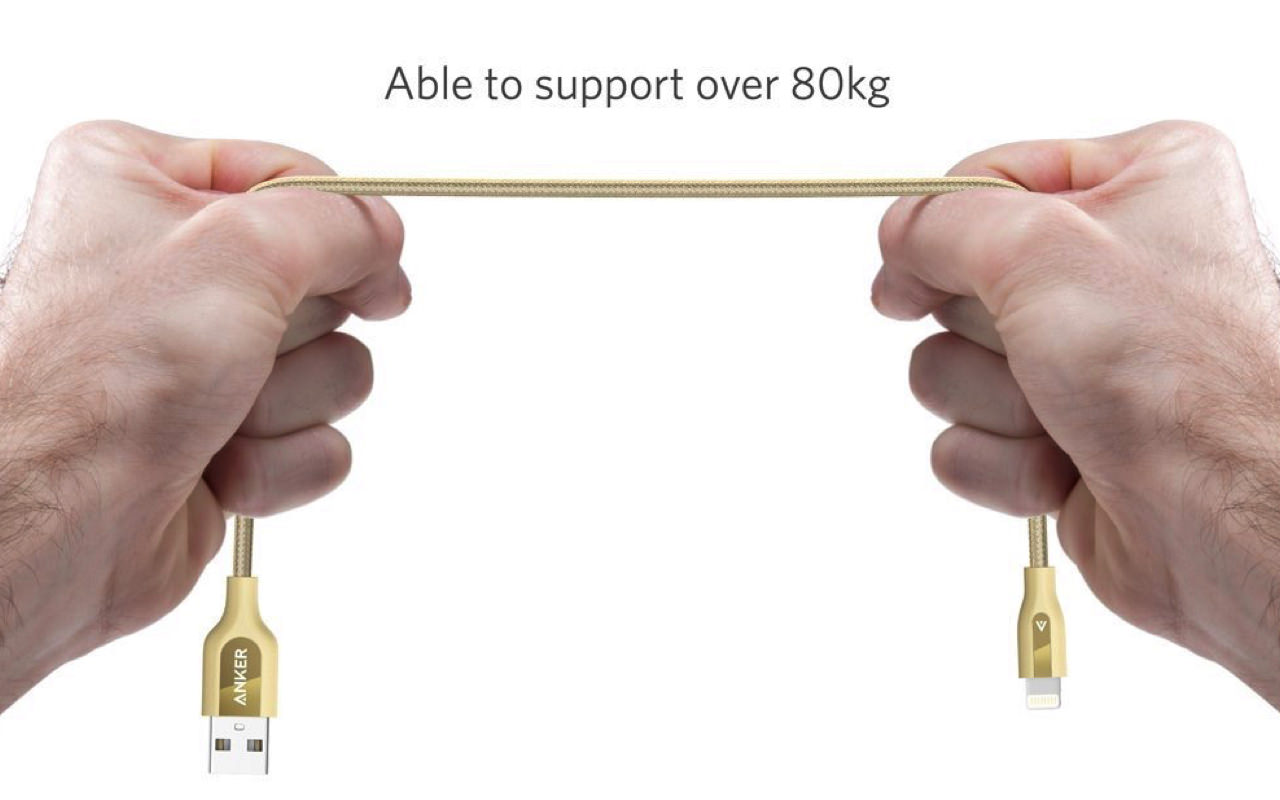 Anker powerline lightning usb cable highly durable kevlar material bullet proof specification2