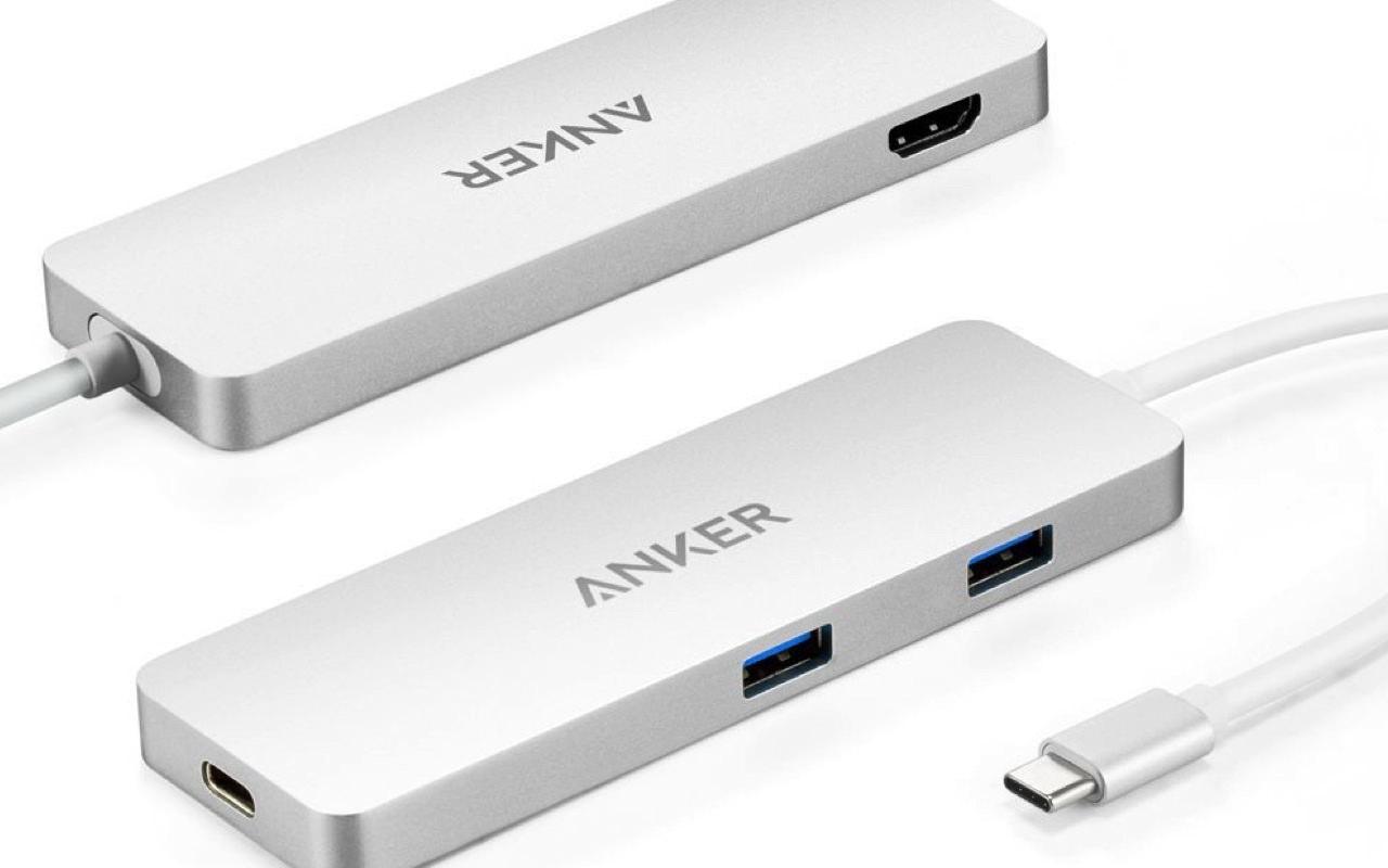 アンカーも発売!MacBook 12インチを充電しながらUSBとHDMI機器を利用できる拡張ハブが登場!