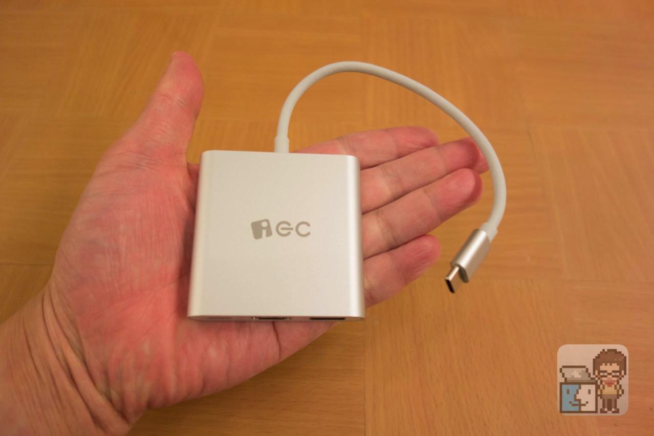 【レビュー】MacBook 12インチのUSB-CポートにHDMI端子を拡張!充電しつつ外部モニターに映像を出力できるハブが便利!