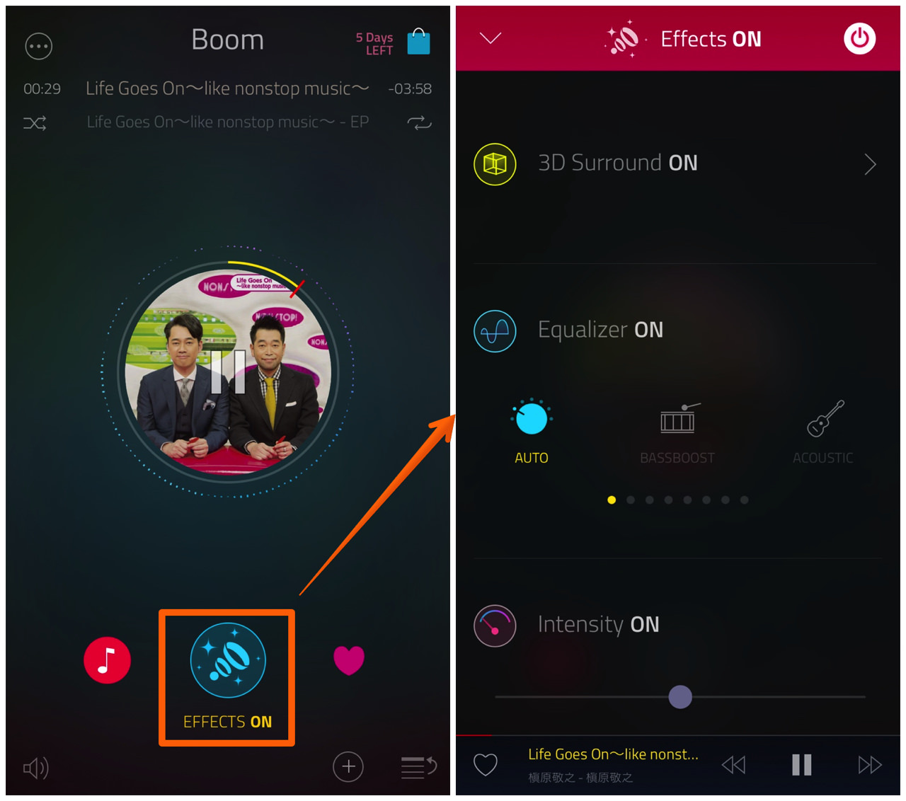 Boom music player with magical surround sound3