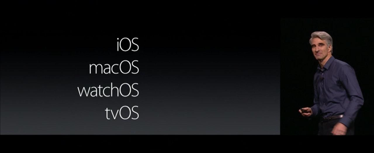 「OS X」から「macOS」に名称変更