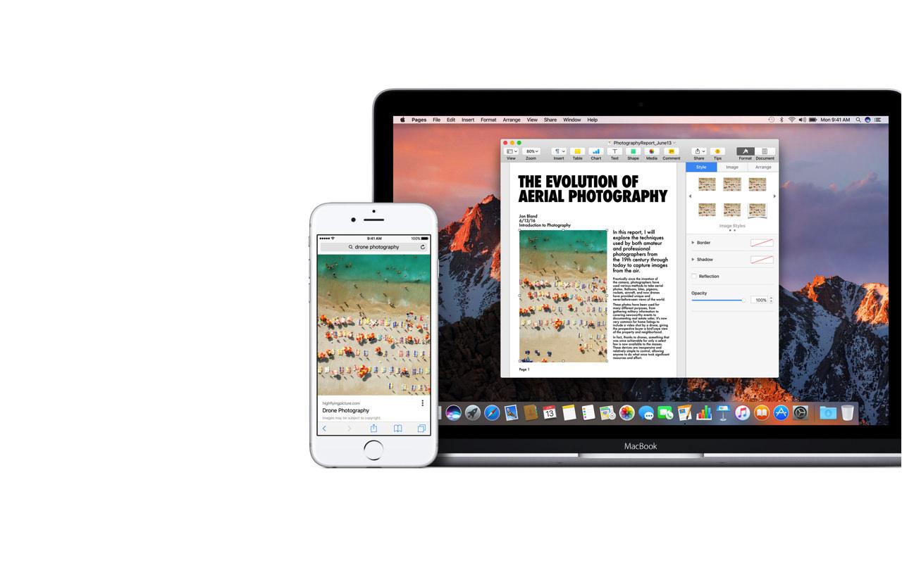 macOS Sierra 新機能:Universal Clipboard(ユニバーサル・クリップボード)のデモ動画