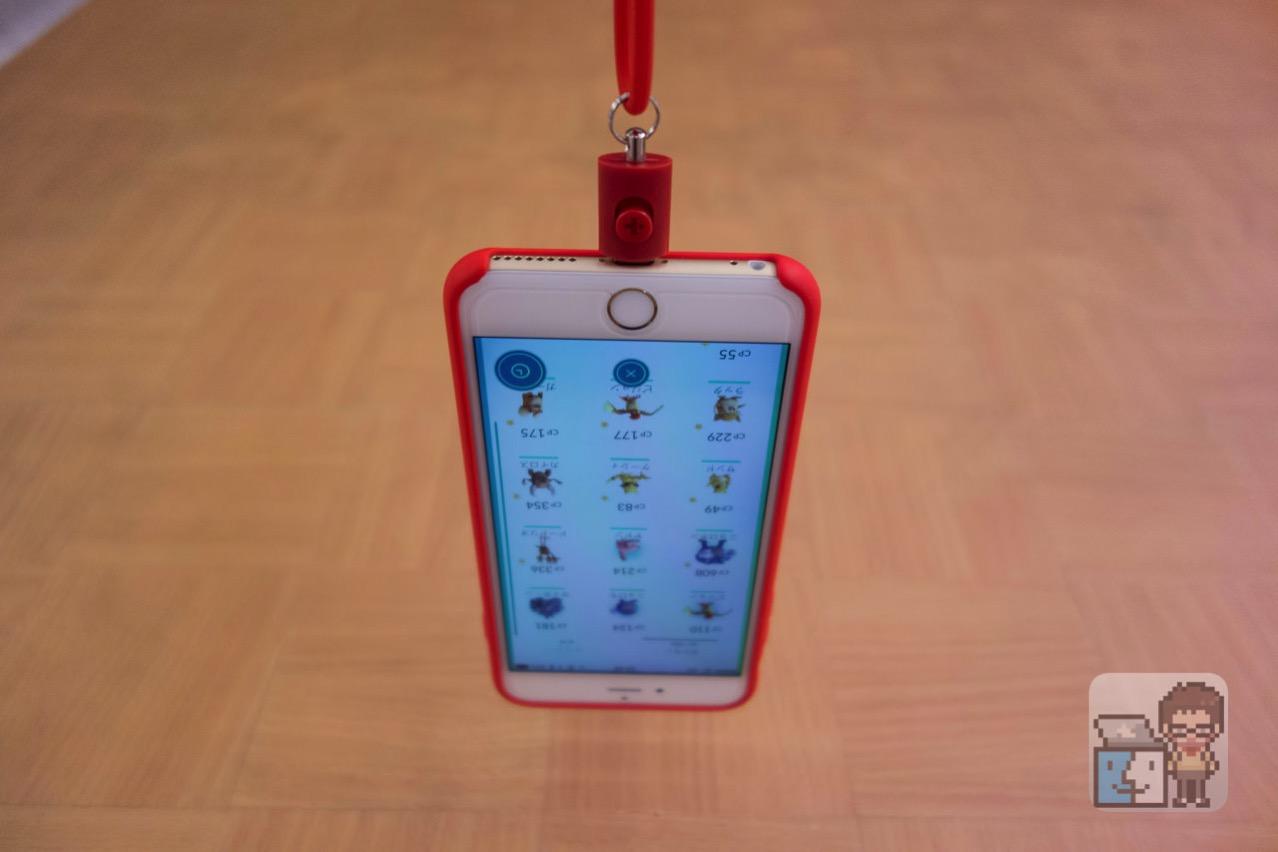 【ポケモンGO 便利グッズ】首にぶら下げて両手がフリーになるiPhoneネックストラップが便利!