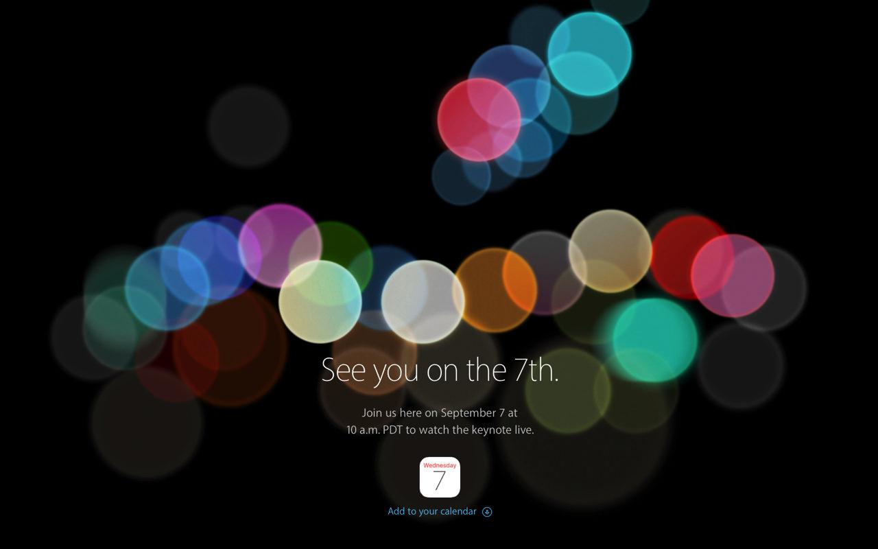 「iPhone 7」、9月7日のAppleスペシャルイベントで正式発表へ