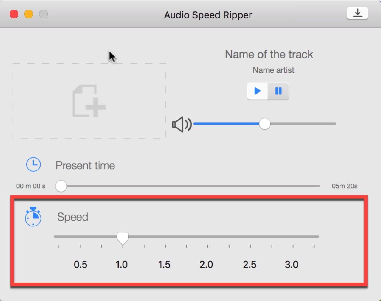 Audio speed ripper plus1