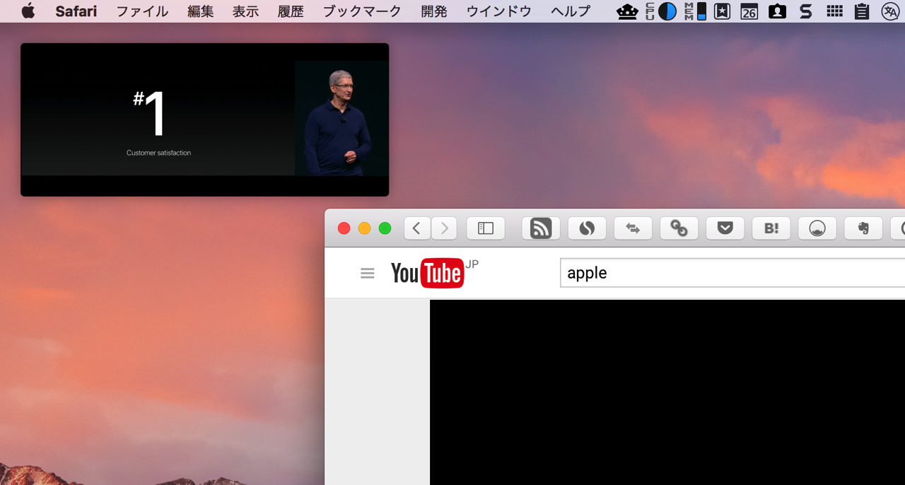 Using picture in picture sierra4