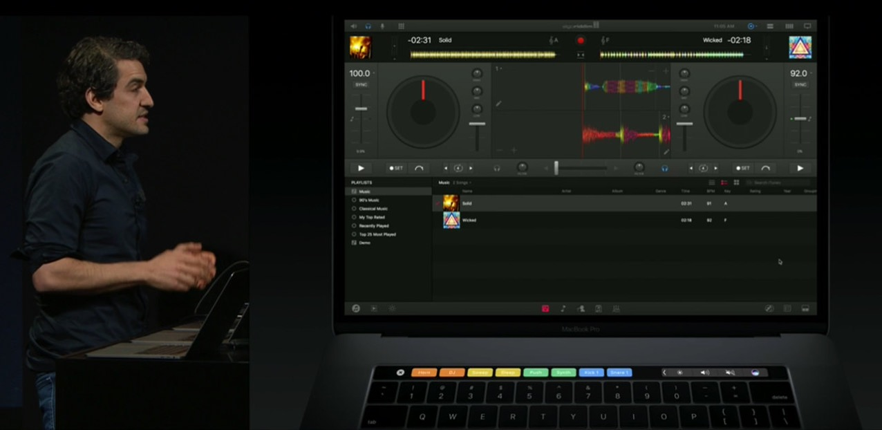 App corresponds touch bar macbook pro late 20165