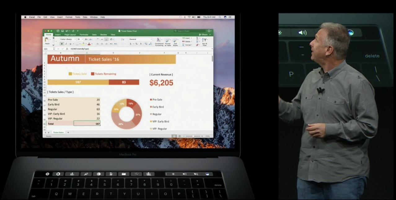App corresponds touch bar macbook pro late 20166