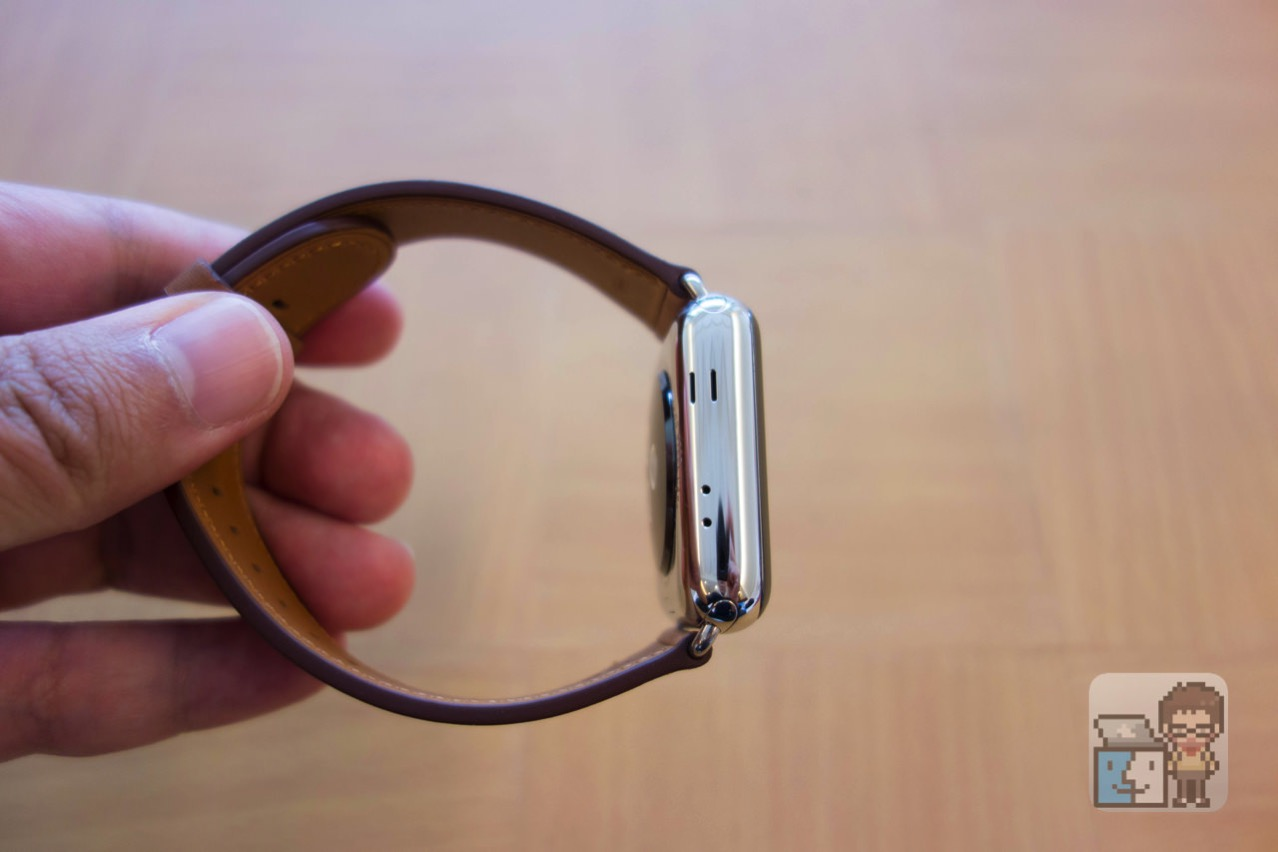 Apple watch 2 stainless steel case with saddle brown classic buckle7