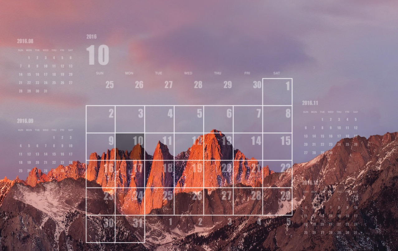 Desktop calendar plus corresponding sierra3
