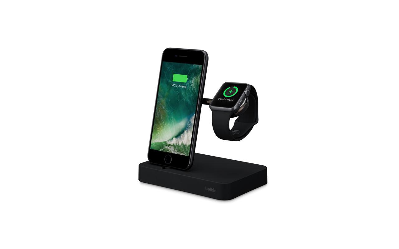 Apple、Belkin製「iPhone+Apple Watch」充電ドックのブラックモデルを販売開始