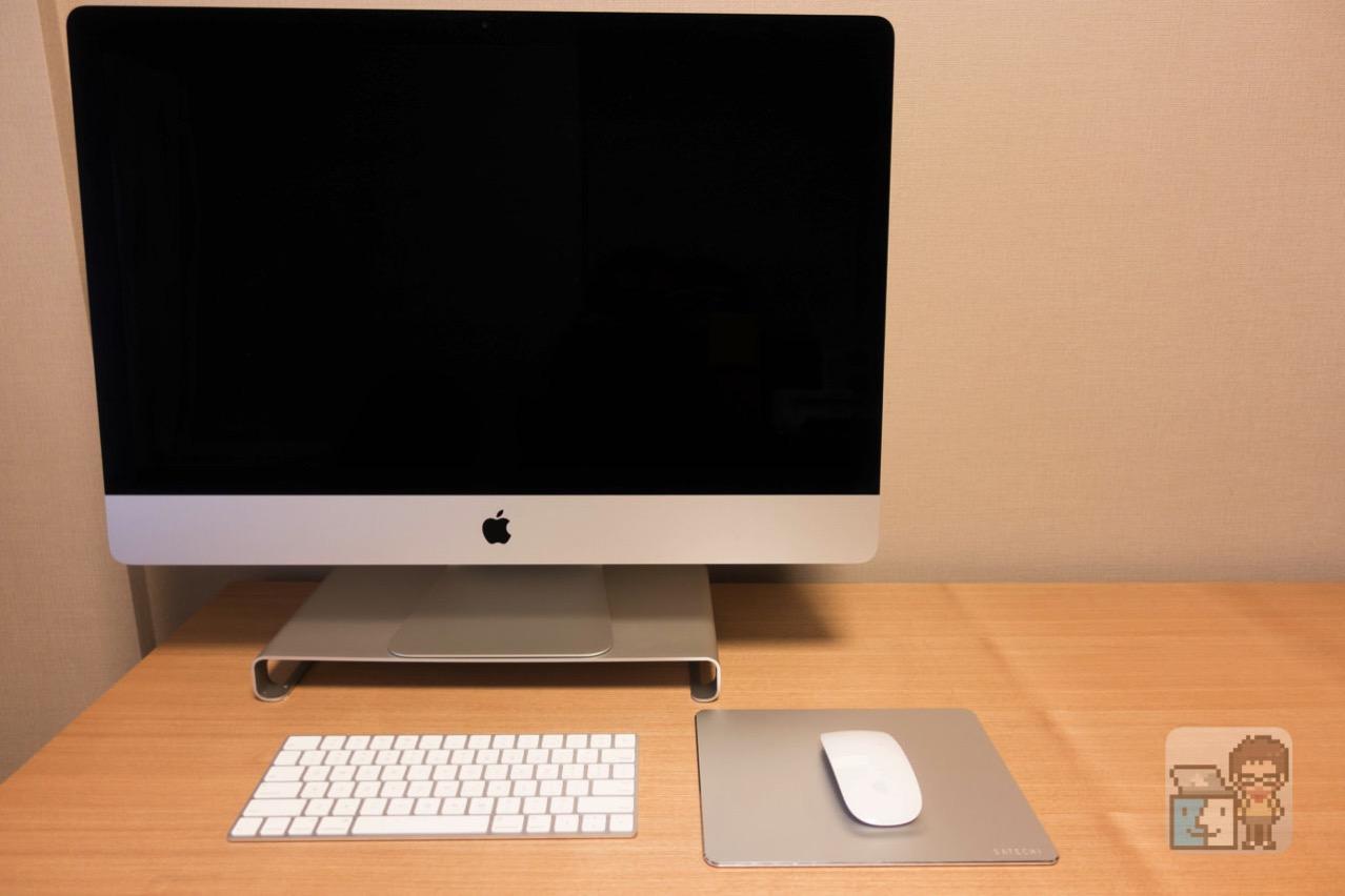 【レビュー】Macの作業用デスクをApple Store 風の木製テーブルにしてみた。