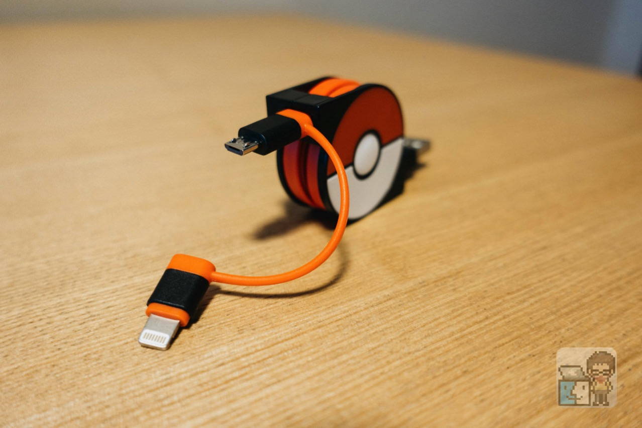 Cheero 2in1 retractable usb cable with lightning micro usb pokemon version4