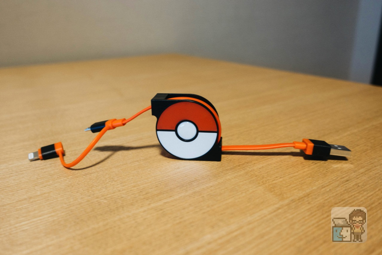 Cheero 2in1 retractable usb cable with lightning micro usb pokemon version5