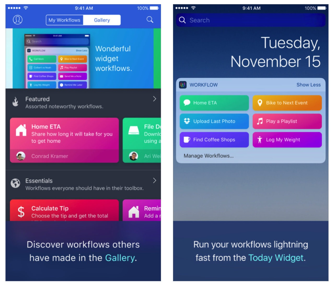Workflow free app store2