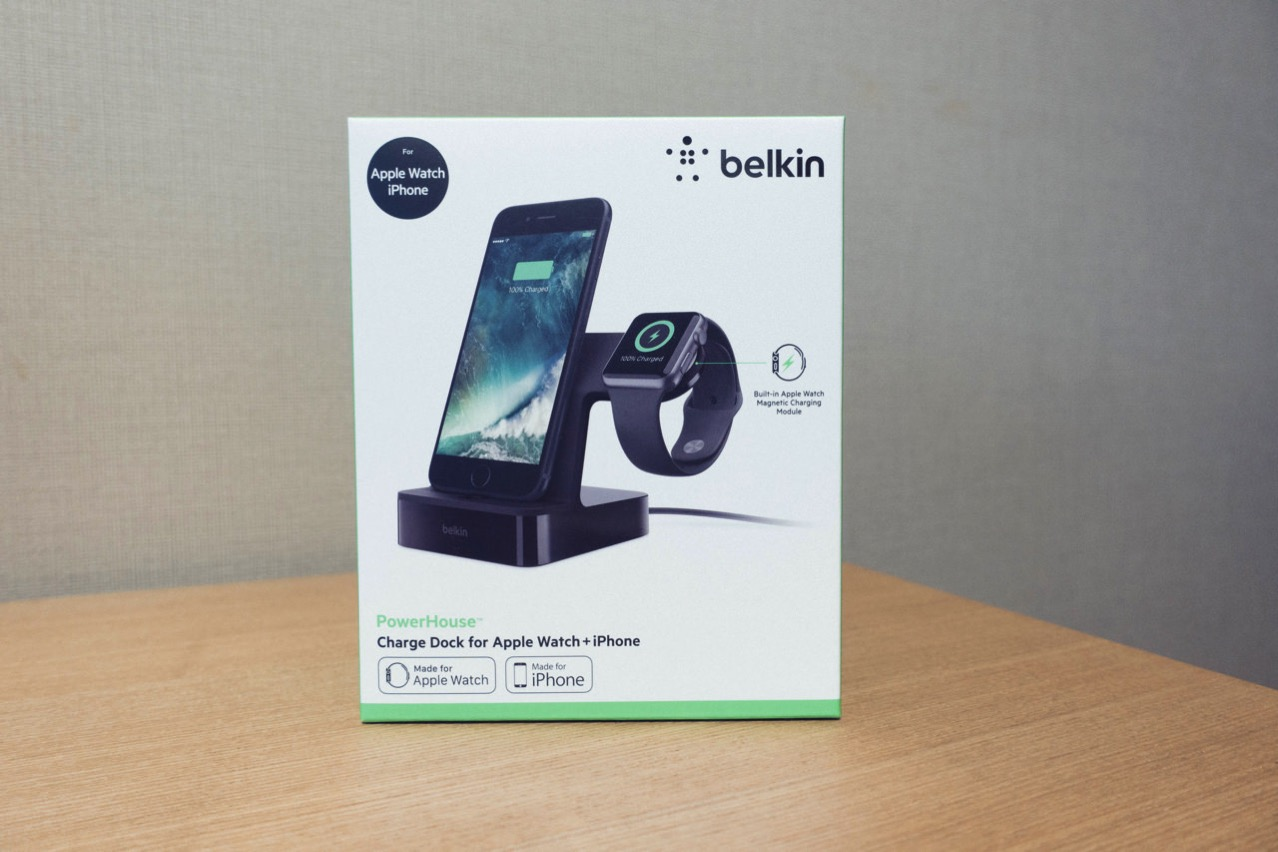 Belkin、iPhone と Apple Watch を同時に充電できるドック「Powerhouse Charge Dock for Apple Watch + iPhone」に新色ブラックを追加