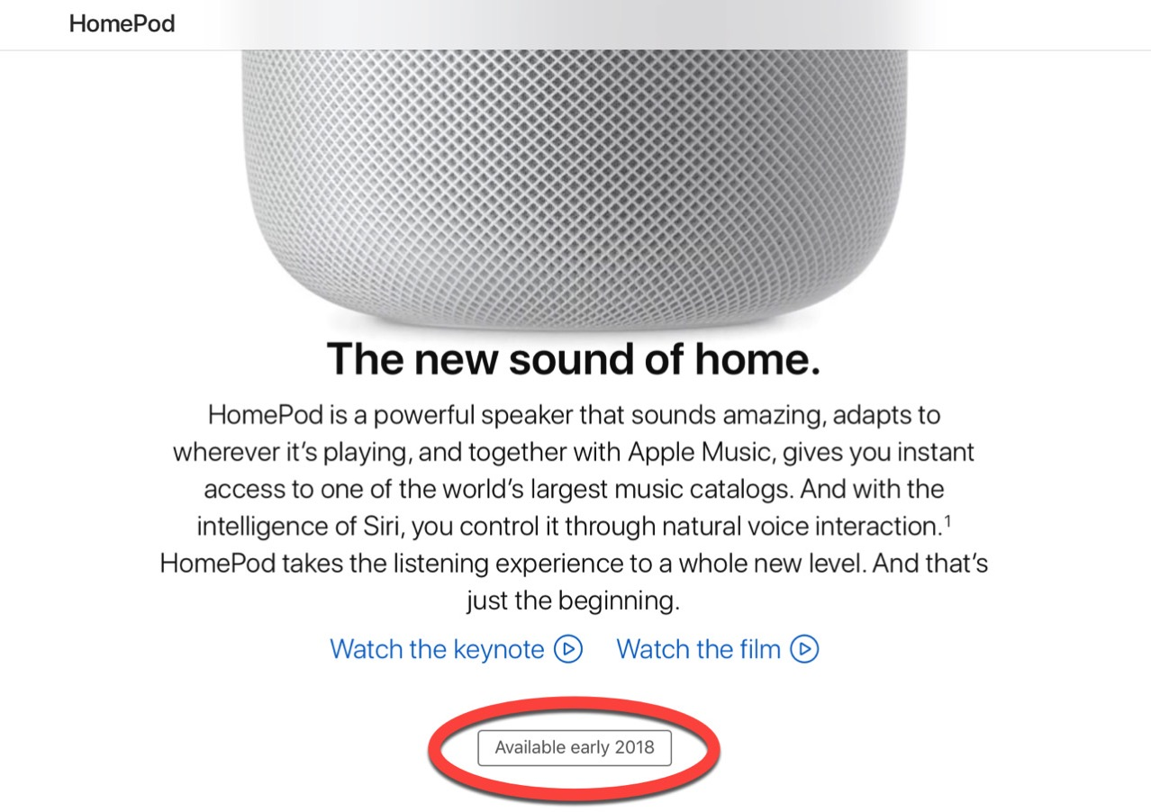 Homepod release date postponed2