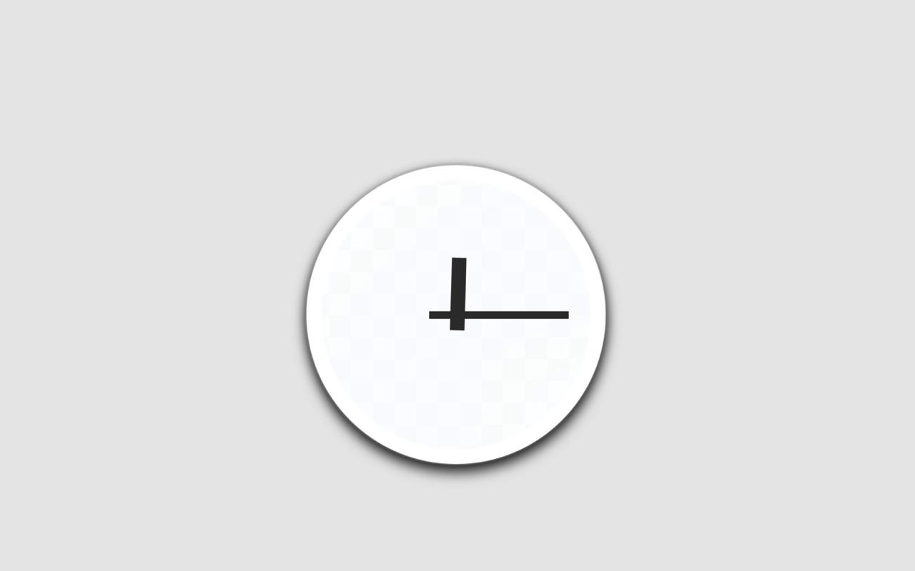 【無料】Macアプリ ― Dock で使えるシンプルなアナログ時計「クロックミニ」