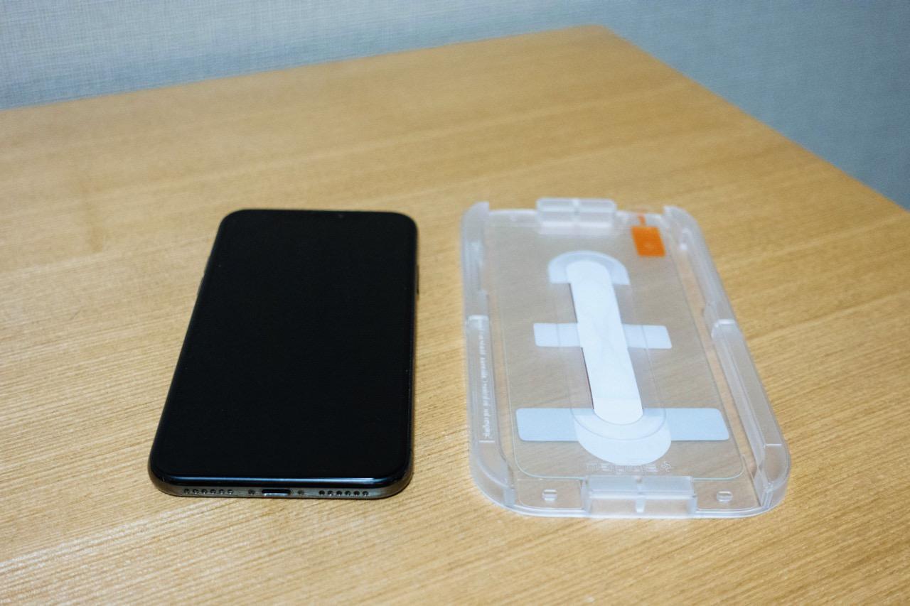 Spigen iphone xs glas tr ez fit2