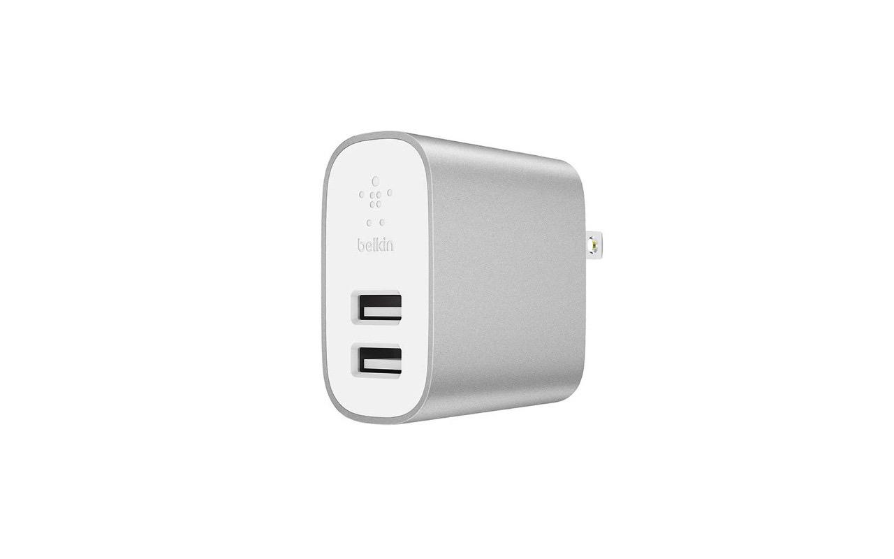 ベルキン、2台同時に高速充電できるUSB充電器「BOOST CHARGE USB充電器 (2口/24W)」発売