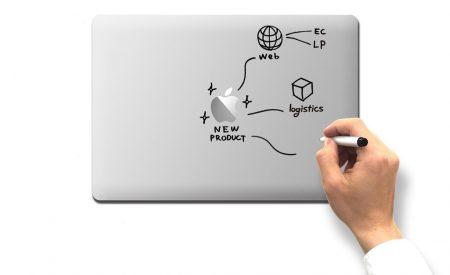MacBook をホワイトボード化できる「ノーマナーフィルム」