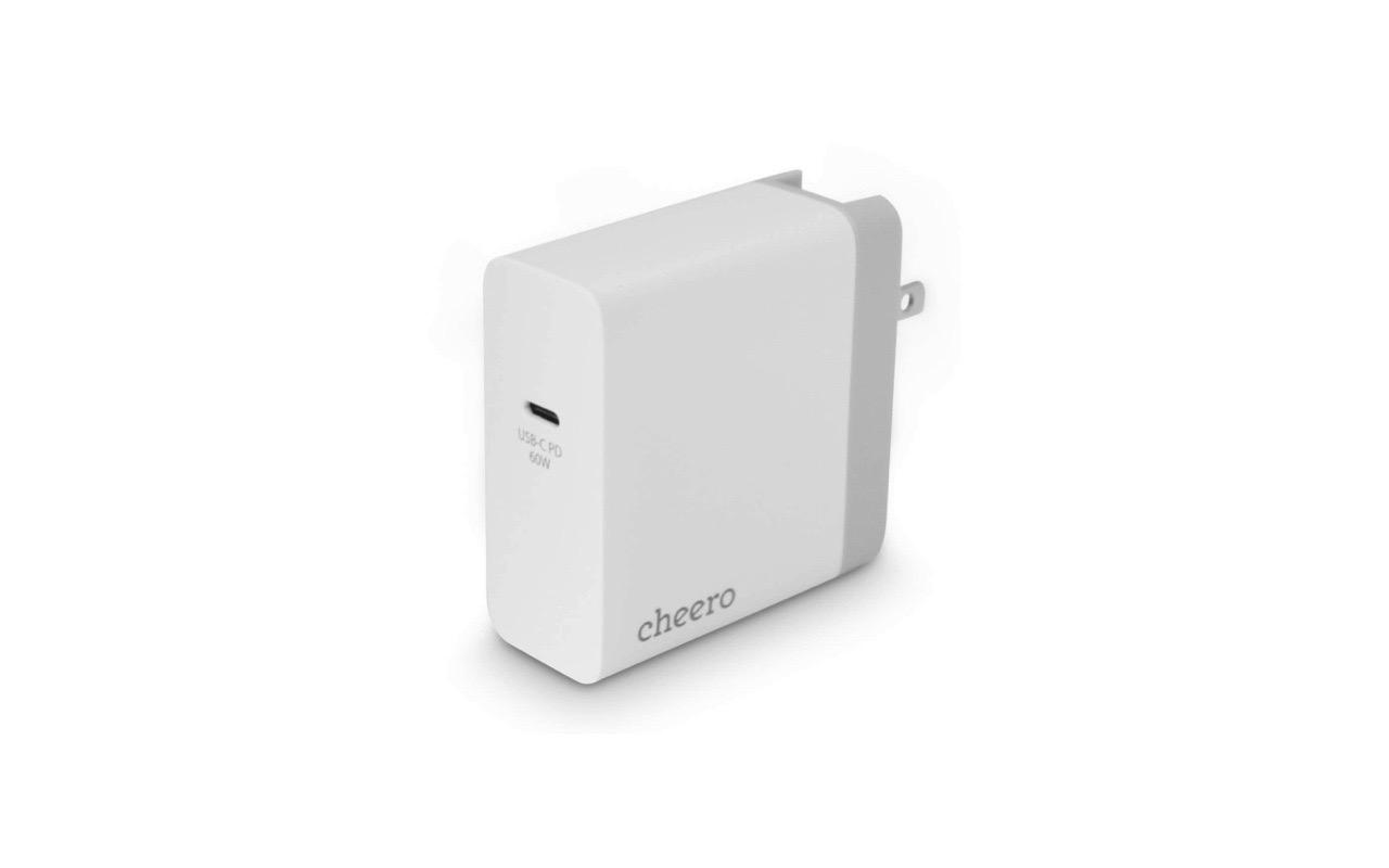 Macbook Pro を2時間でフル充電!cheero USB-C PD Charger 60W 発売