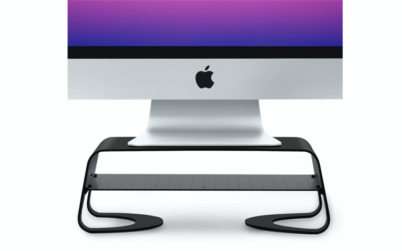 "<span class=""title"">iMacやモニターを快適な高さにするスタンド「Curve Riser」</span>"