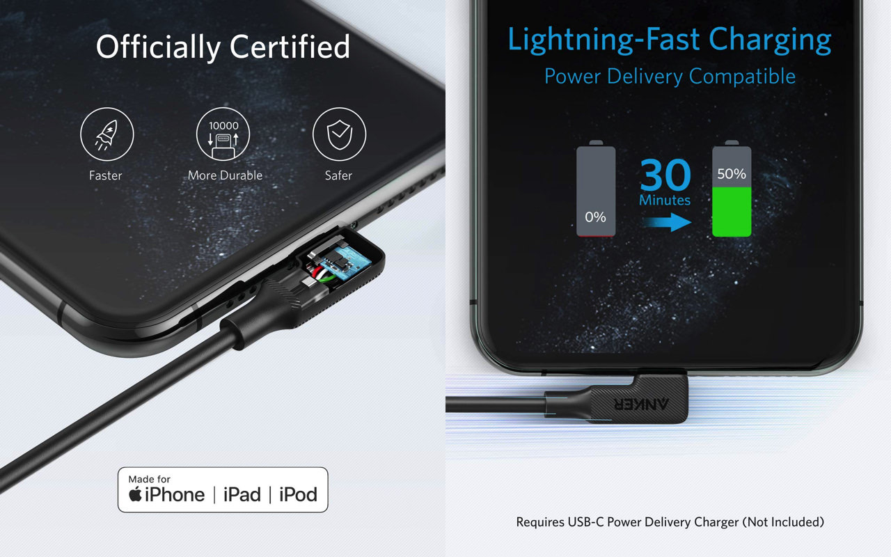 Anker powerline play 90 usb c lightning cable2